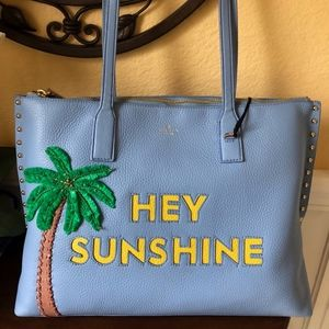Kate Spade Hey Sunshine Leather Shopping Tote